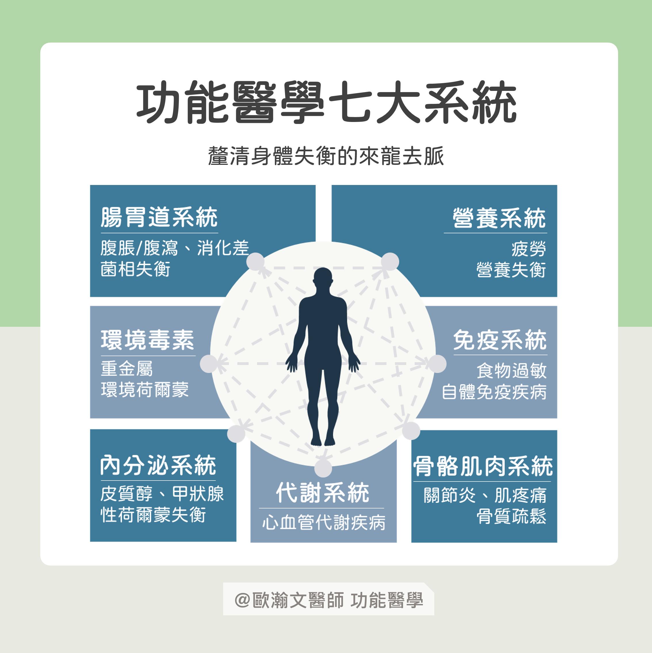 功能醫學七大系統